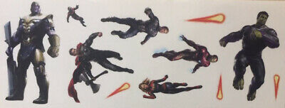 AVENGERS wall stickers 11 Marvel decals superhero Hulk Thanos Ironman Thor +