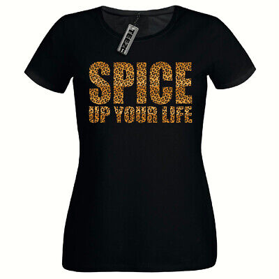 Leopard Print Spice Up Your Life Tshirt, Ladies Fitted Tshirt,Girls Tee