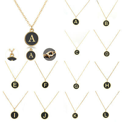 26 Letter Necklace 316 Stainless Steel Initial Alphabet Gold Plated Jewelry New