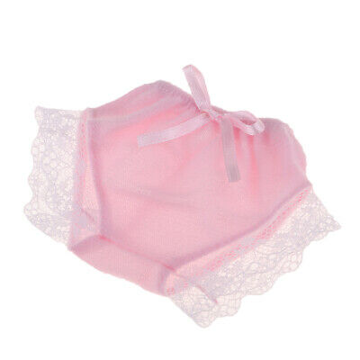Handmade Lace Underpants for Mellchan Baby Doll Girl Dolls Clothes Pink