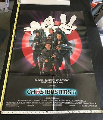 Vintage Original 1989 Ghostbusters II 2 Two Theater Movie Poster 1-Sheet