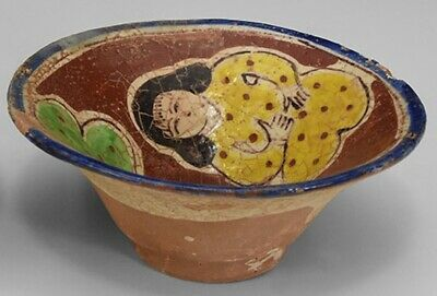 Ancient Gandhara/Islamic Ceramic Glazed Pictorial Bowl 1200 Bc (2)