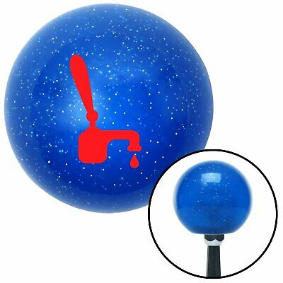 Red Tap w/ a Drip Blue Metal Flake Shift Knob uconnect wholesale racing bbs