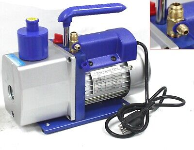 R410a 1-Stage 4.8 CFM  Rotary Vane Vacuum Pump HVAC Air Condition Refrigerant