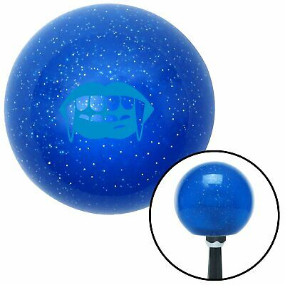 Blue Mouth with Fangs Blue Metal Flake Shift Knob 351 rzr 671 brass big dog