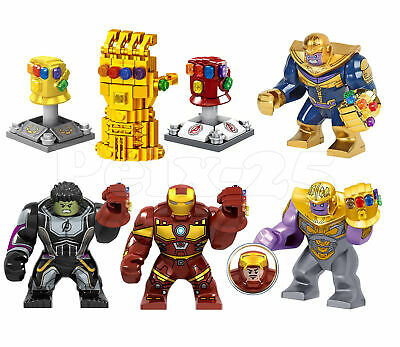 The Avengers Infinity Gauntlet Minifigures Thanos Iron Man Hulk Building Blocks