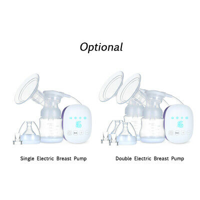 Infant Electric Comfort Breast Pumping Feeding Suction With Milk Bottle M0K7
