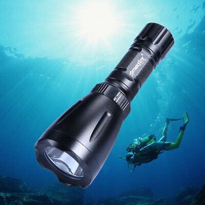 90000LM Scuba Diving Flashlight T6 LED Underwater 150M Torch Lamp 18650/AAA AY