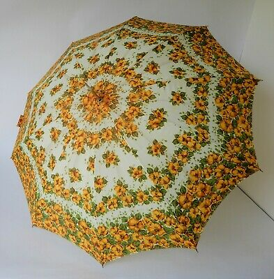 Vintage Retro 60s/70s UMBRELLA/PARASOL Floral MADE IN JAPAN