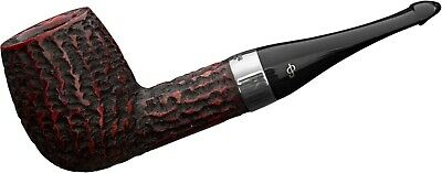 PETERSON HOUSE RUSTIC BILLIARD 9MM BRIAR PIPE / STERLING SILVER / GIANT *in BOX
