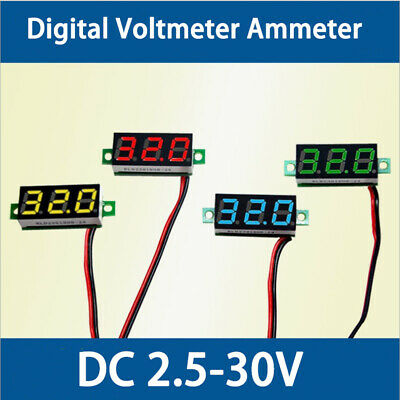 New Digital Voltmeter Voltimetro LED Volt Meter Gauge Voltage Meter DC 2.5-30V
