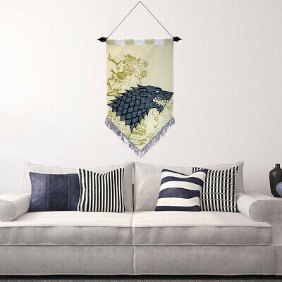 Game Of Thrones House Stark Scroll Flag Banner Fans Gift 17''x28'' Home Decor
