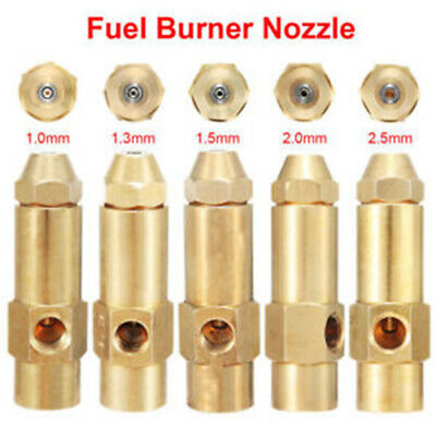 45 degree Nozzle Fuel Burner Spray Brass Waste Oil Alcohol-based Safe Siphon