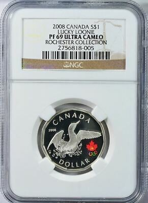 2008 Canada S$1 Olympics Lucky Loonie Rochester Collection Ngc Pf69 Ultra Cameo