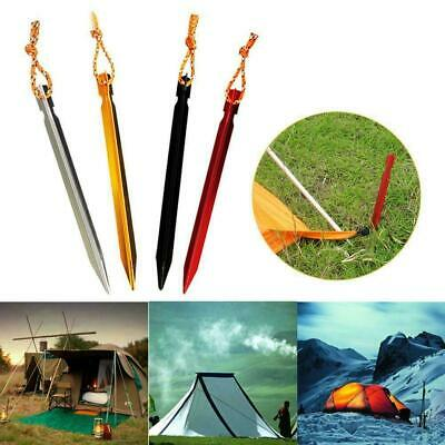 12 Pcs/bag 18cm Aluminum Alloy Outdoor Camping Trip Tent Peg Ground Nail Stakes