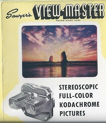 View-master Reel List Revised Feb 1947 Lady with a Model B on Back Page
