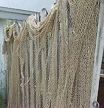 10x3' Dock Swag Authentic Reclaimed Knotted Fishing Net Nautical Decor