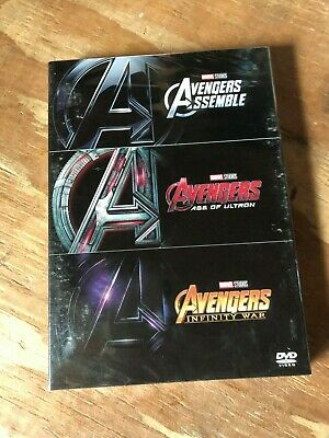 Avengers Trilogy Box Set All 3 Avengers Movies New & Free Shipping