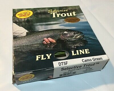 NEW RIO MAINSTREAM DOUBLE TAPER FLOATING FLY LINE DT3F LEMON GREEN fly fishing