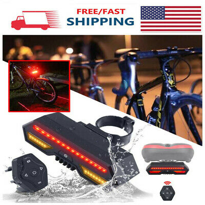 Bike Bicycle Indicator LED Bike Turn Signal Lights Remote Control Rear Light US