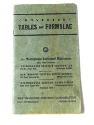 Westinghouse hints on Electrical Maintenance Tables and Formulae booklet 1950s