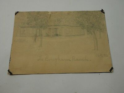The Bingham Ranch Original Dibujo Firmado L. A. S. 1896 , Medidas 5,5 X 8