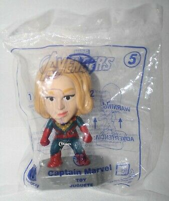 McDonalds  #5 Captain Marvel Avengers Endgame Toy Action 2019 Brie Larson Boxed
