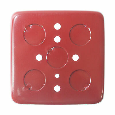 Fci Gamewell 49558 Outlet Box Fire Alarm Surface Mount Back Box, Red