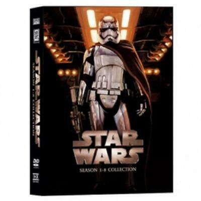 Star Wars: The Complete Saga Episodes Seasons 1-8 Collection DVD 14-Disc Box Set