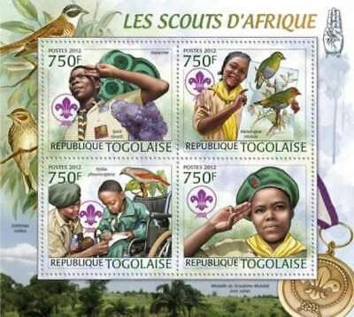 Togo - Scouts de Africa, Aves, Minerales - 4 Sello Hoja