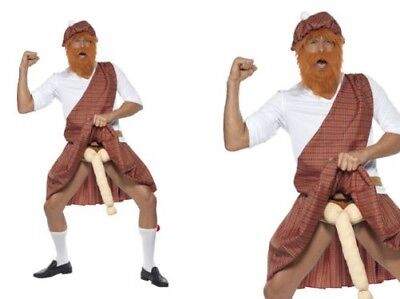 Adult Scotsman Well Hung Highlander Scottish Fancy Dress Costume Stag Party New