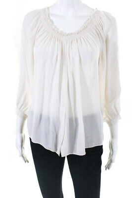 b31a980119d Artelier Nicole Miller Womens Rocky Smocked Off Shoulder Top Size Small  10537129