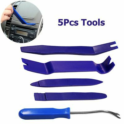 5Pcs Kit Audio Door Trim Radio Panel Dash Car Removal Tools Pry Open Nail Puller