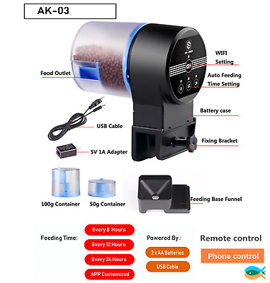 SUNSUN Aquarium Automatic Fish Feeder WIFI model