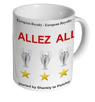 6 Times European Champions Allez Allez Gift Idea For LIVERPOOL FC Supporters MUG