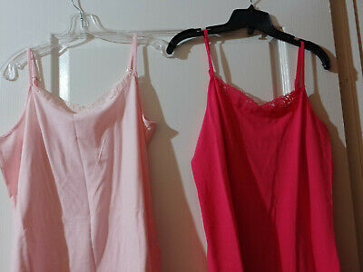 BNWO Camisoles, Large, ordered from AVON, 1 Lot 2 pcs, Dark coral, Pastel pink