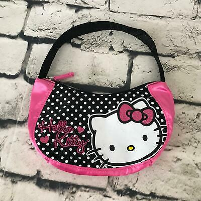 d25ab96b8 Hello Kitty By Sanrio Girls Handbag Pink Polka Dot Shoulder Bag Zipper Purse
