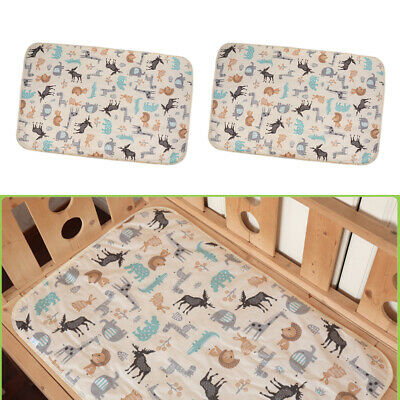 Cartoon Baby Waterproof 3 Layers Changing Pad Infant Urine Mat Cover 90x60cm
