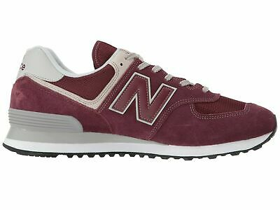 NEW BALANCE MENS Classic 574 Core Iconic Burgundy Sneaker ...