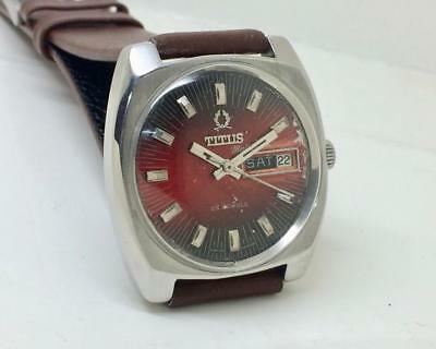 Rare Vintage Titus Day Date Automatic Original Dial Swiss Made Wrist Watch