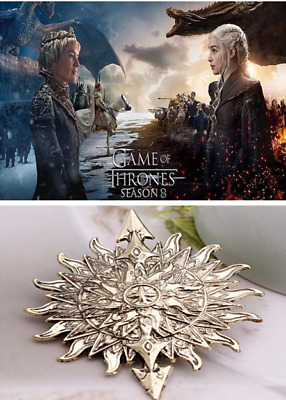 Game Of Thrones Season 8 Sunspe Brooch Cosplay Prop Badge Pin Unisex Fans Gift