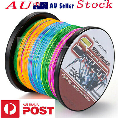 AU Stock Dorisea Spider PE Braided Fishing Line 300m~1000m Multicolor 10lb~100lb