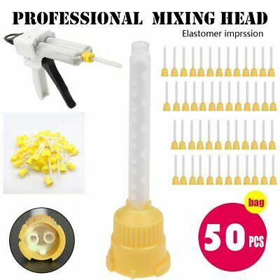 50PCS Disposable Dental Impression Mixing Tips Mixing Tube Silicone Rubber Film