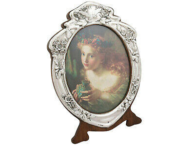 Antique Edwardian 1900s Sterling Silver Photo Frame by J Aitkin & Son