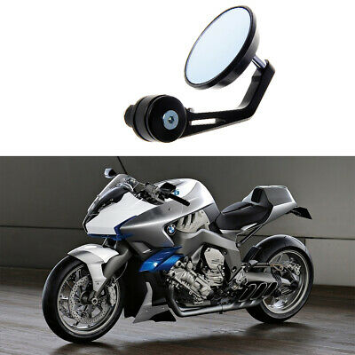 22mm Universal Motorcycle Handlebar Bar End Rearview Side Mirror Aluminum Round