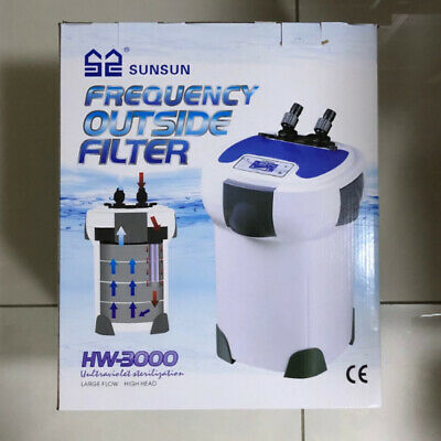 SUNSUN Frequency 1200L/H-3000L/H Adjustable External Canister Filter Free Media
