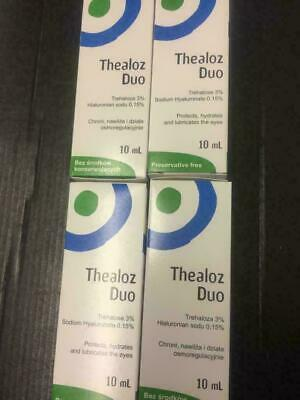 4x Thealoz Duo Eye Drops 10ml Protect, hydrate & Lubricate the eye. Summer..