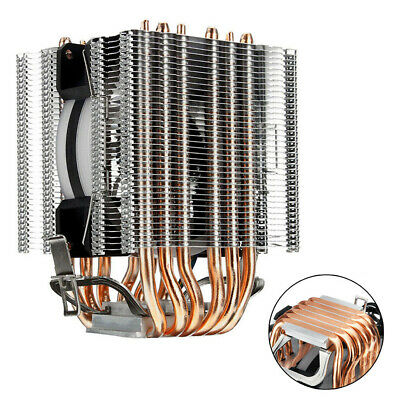 UK RGB 6 Heatpipe CPU Cooler Gaming PC Cooling Fan For AMD AM2 AM3+AM4 FM2 FM3