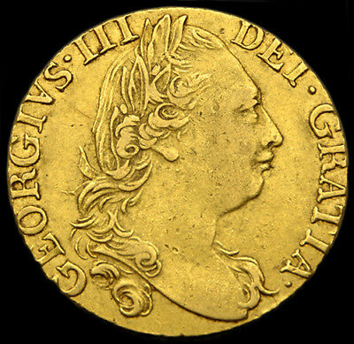 KING GEORGE THE III 1785 GOLD GUINEA Forth Laur Head / Crowned Shield...