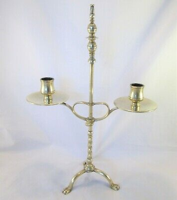 A Good 19th Century Brass Reading Candlestick - Adjustable